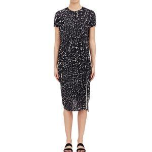 Helmut Lang Strata Draped Knot Abstract Dress